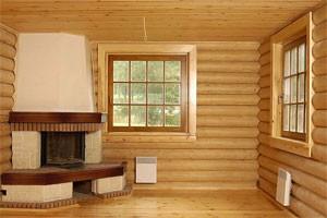 Стены в деревянном доме