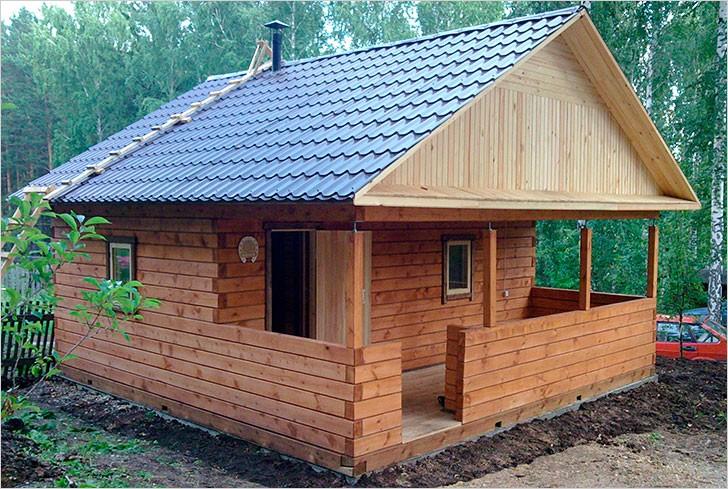 Как построить баню на даче из бруса